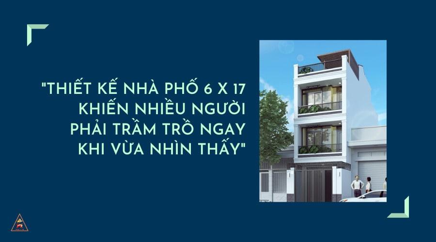 bản vẽ thiết kế nhà phố 6x17m