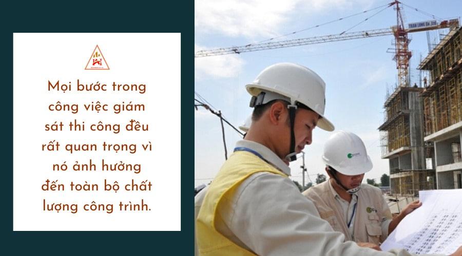 quy trình giám sát chất lượng công trình